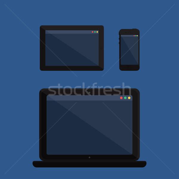 Adaptive Design Web Template Stock photo © barsrsind