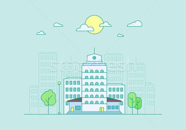Város élet város utca városi tájkép Stock fotó © barsrsind