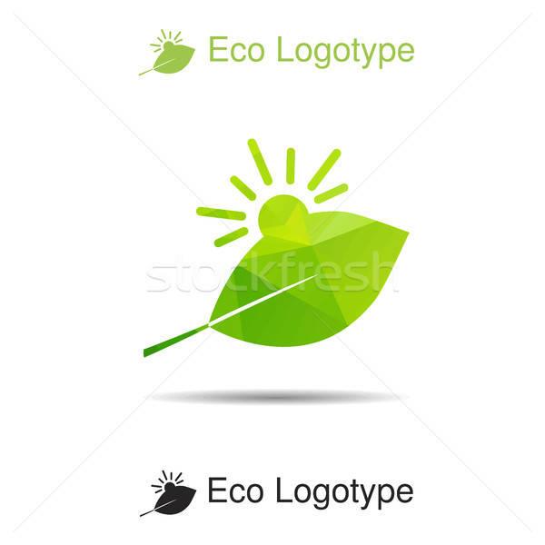 Ecology logotype, icon and nature symbol Stock photo © barsrsind