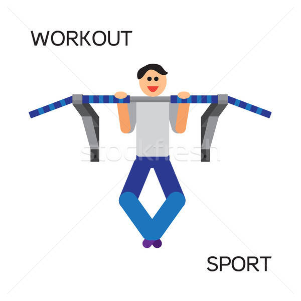 Sportman with sports equipment for street workout Stock photo © barsrsind