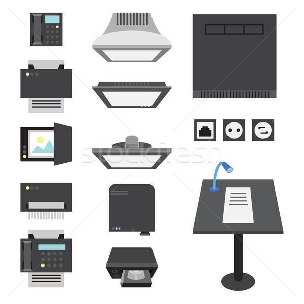 Office and Presentation Icons Stock photo © barsrsind