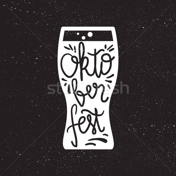 Октоберфест Знак пива фестиваля ручной работы Сток-фото © barsrsind