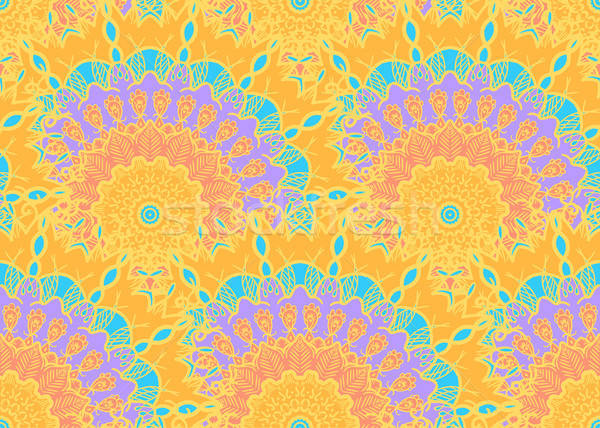 曼陀羅 手描き アラビア語 インド トルコ語 ストックフォト © barsrsind