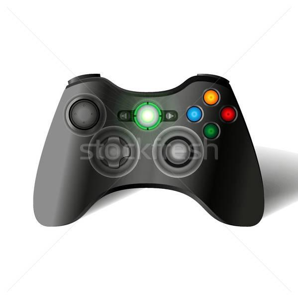 Oyun denetleyicisi joystick oyun konsol gamepad teknoloji Stok fotoğraf © barsrsind
