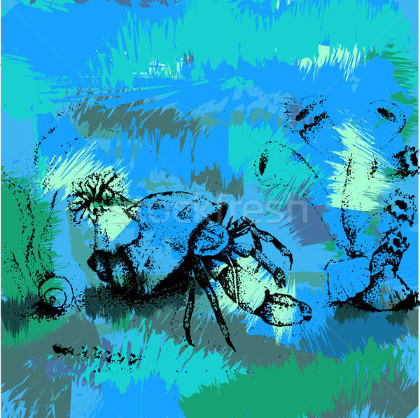 Crab in the ocean Stock photo © barsrsind