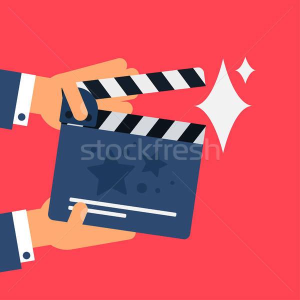 Film symbool stijlvol communie vector film Stockfoto © barsrsind