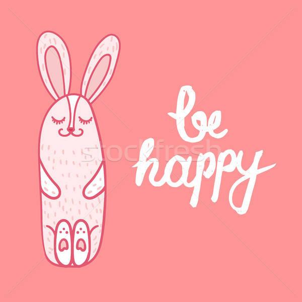 カード 幸せ ヴィンテージ 手描き ヒップスター フレーズ ストックフォト © barsrsind
