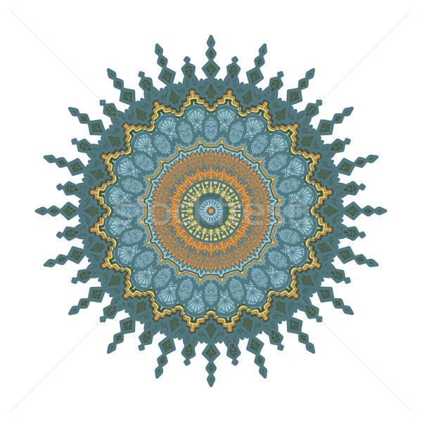 Mandala line modello arabic indian Foto d'archivio © barsrsind