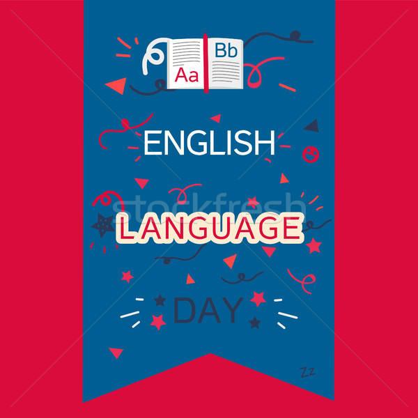 English Language Day Banner Stock photo © barsrsind