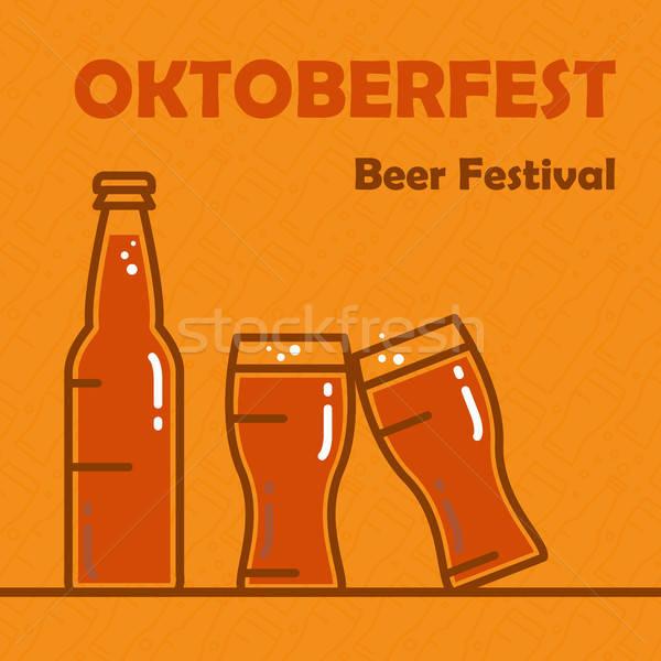 Октоберфест пива баннер фестиваля Сток-фото © barsrsind