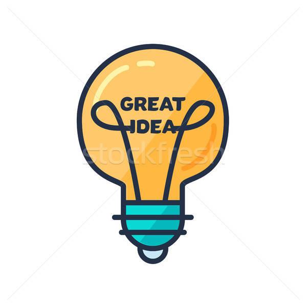 Groot idee gloeilamp vorm dacht verbeelding Stockfoto © barsrsind