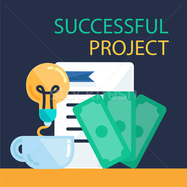 Successful Project Banner Stock photo © barsrsind