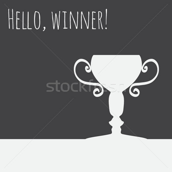 Campeão copo ícone logotipo vencedor projeto Foto stock © barsrsind