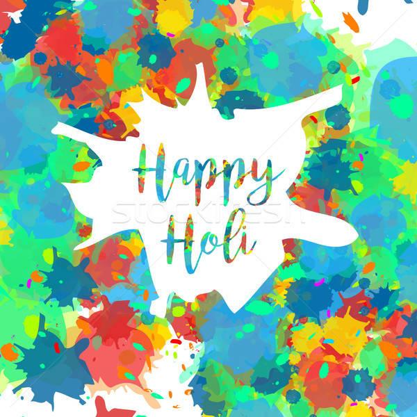 Felice festival indian colori design banner Foto d'archivio © barsrsind