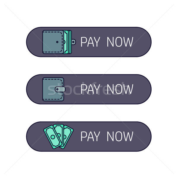 Web payment button Stock photo © barsrsind
