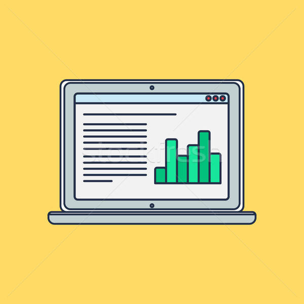 Web Template of Computer Site or Article Form Stock photo © barsrsind