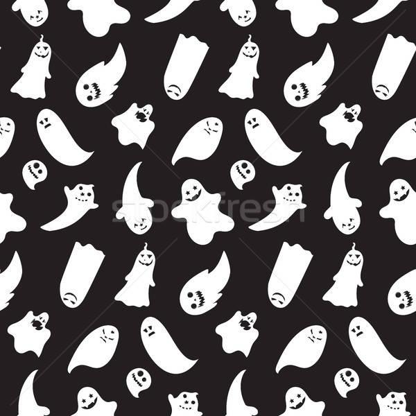 Хэллоуин Призраки вектора лице Сток-фото © barsrsind