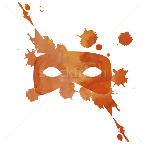 Vector aquarelle mask with splash Stock photo © barsrsind