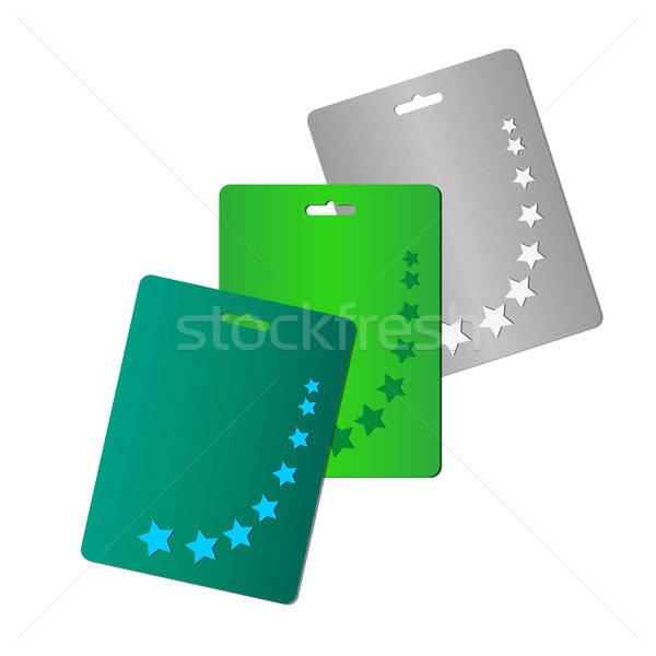 Starry cards set Stock photo © barsrsind