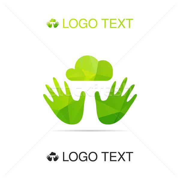 Ecology air symbol  Stock photo © barsrsind