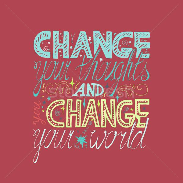 Сток-фото: мотивация · плакат · цитировать · мечта · ткань · печать