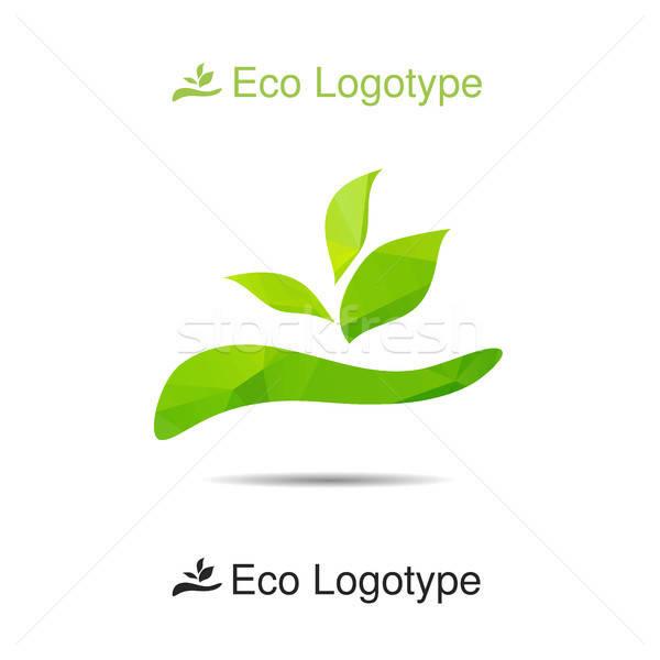 Ecology logo or icon in eps, nature logotype Stock photo © barsrsind