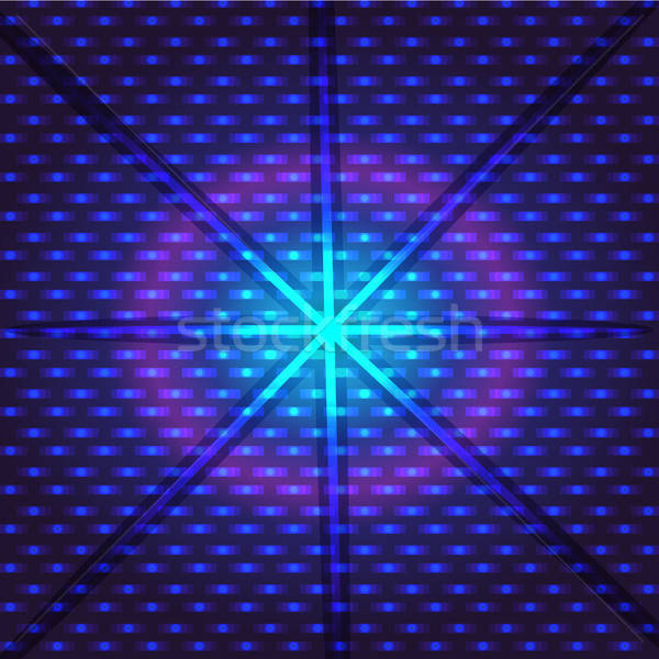 Techno digital virtual azul violeta rosa Foto stock © barsrsind