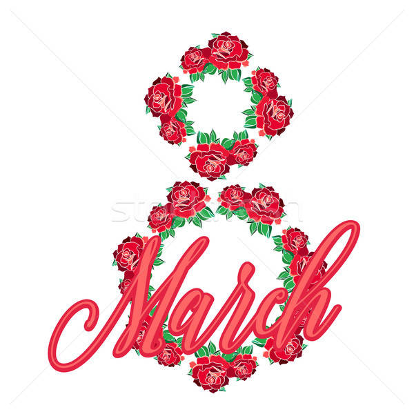 Internacional cartão modelo rosa cartaz Foto stock © barsrsind