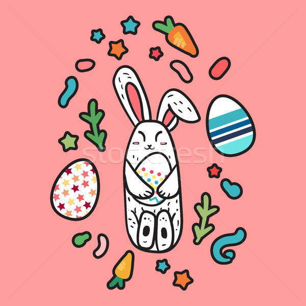 Happy Easter Rabbit Stock photo © barsrsind