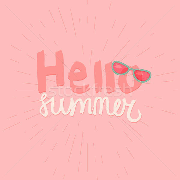 Hello Summer Lettering Stock photo © barsrsind