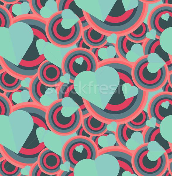 ストックフォト: ヴィンテージ · シームレス · ロマンチックな · パターン · 印刷