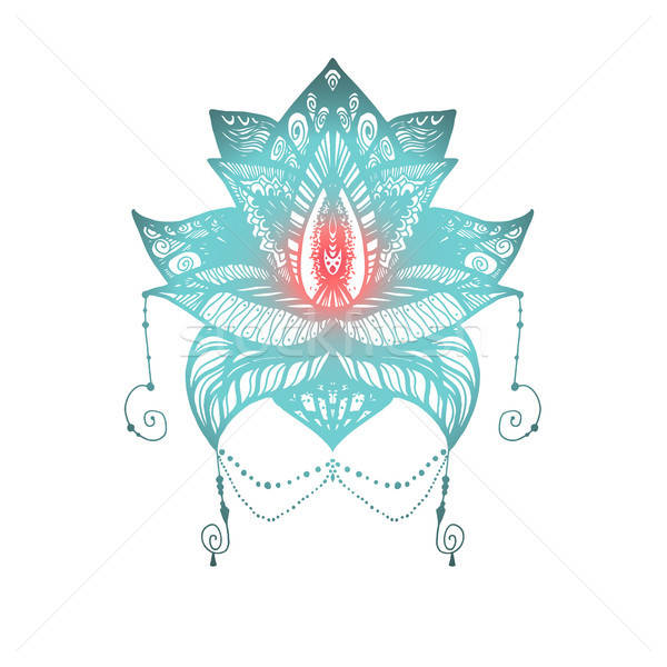 Flower Lotus Tattoo Stock photo © barsrsind