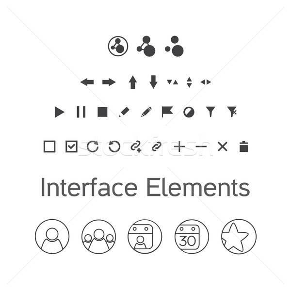 Vector establecer interfaz elementos ui Foto stock © barsrsind