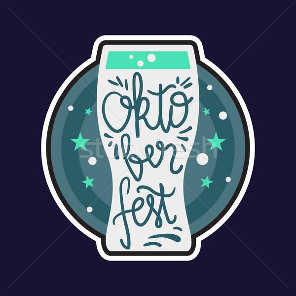 Oktoberfest Lettering Badge Stock photo © barsrsind