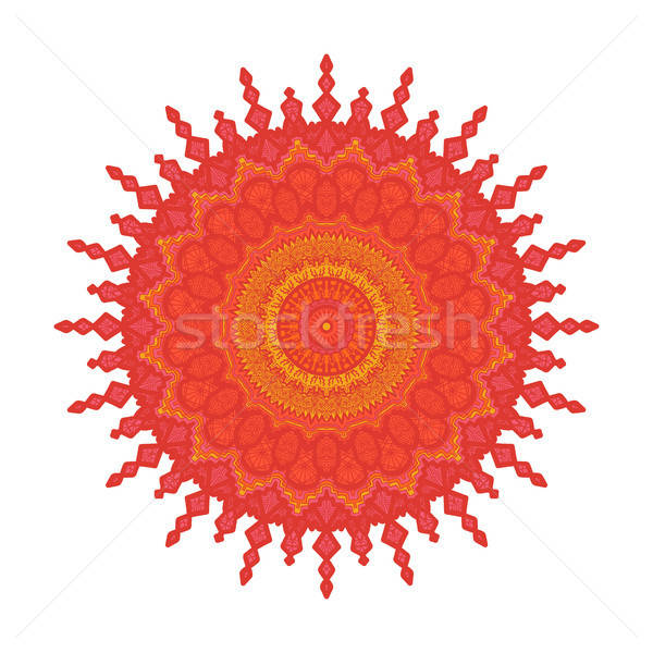 Mandala lijn sjabloon arabisch indian Stockfoto © barsrsind