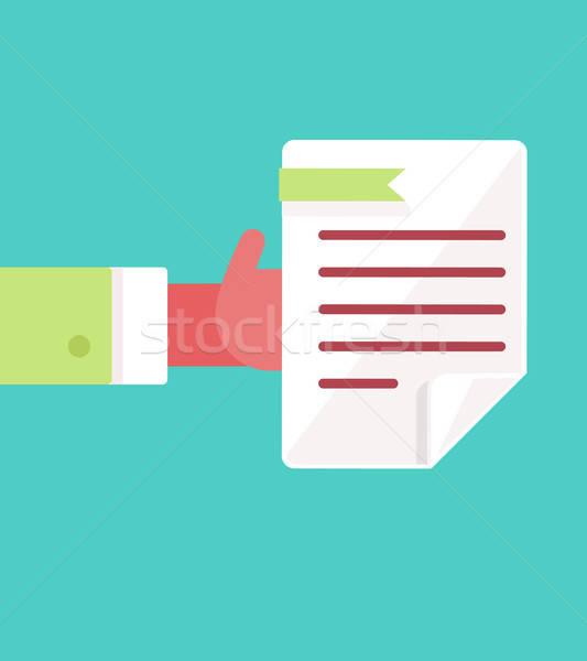 Płatność dokumentu symbol proces wynajem wynagrodzenie Zdjęcia stock © barsrsind