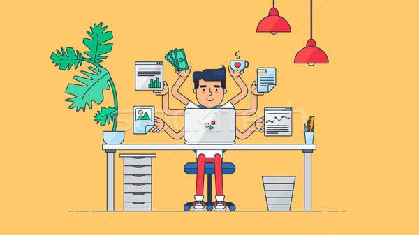 Creative Tech workspace профессиональных рабочих разработчик Сток-фото © barsrsind