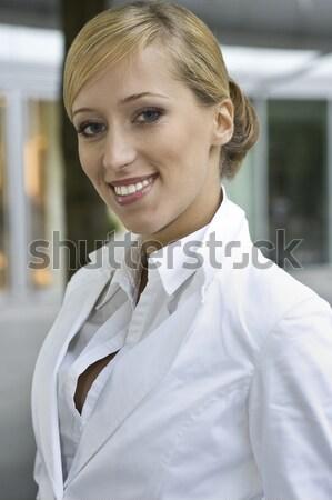 blonde businesswoman Stock photo © bartekwardziak