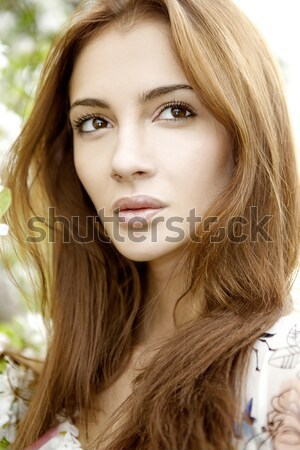 Portrait belle brunette adulte sensualité femme Photo stock © bartekwardziak