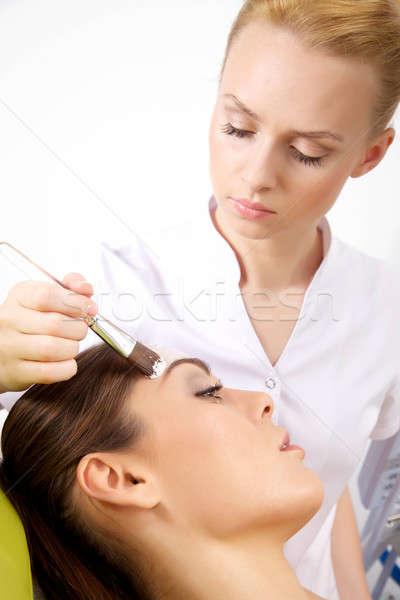 Foto stock: Belleza · piel · máscara · tratamiento · cara