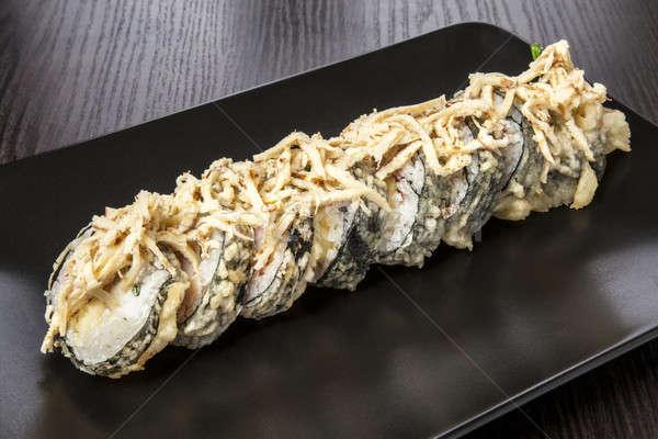 Sushi maki rulo siyah yemek Stok fotoğraf © bartekwardziak