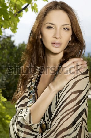 portrait of beautiful brunette Stock photo © bartekwardziak