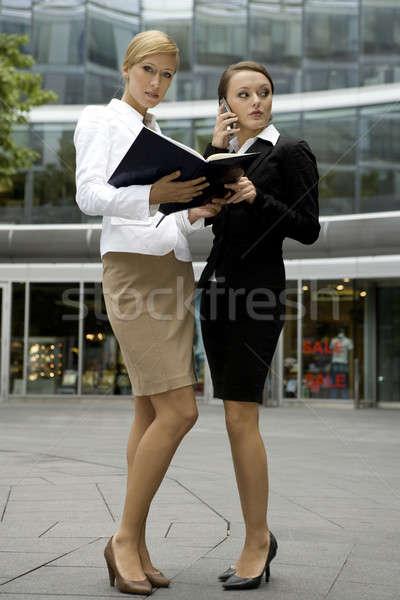 2 魅力的な 実業 話し 電話 ストックフォト © bartekwardziak