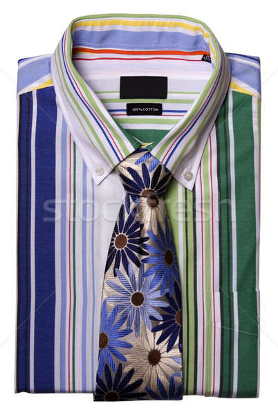 A stripped shirt with colorful tie Stock photo © bartekwardziak