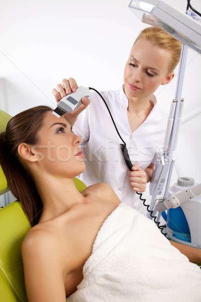 Kadın uyarıcı tedavi terapist portre çekici Stok fotoğraf © bartekwardziak