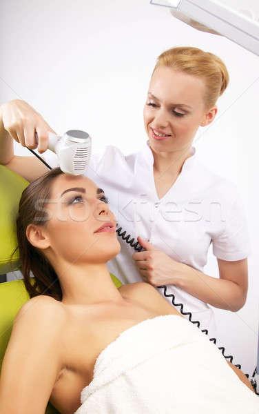 Nő stimuláló kezelés terapeuta portré vonzó Stock fotó © bartekwardziak