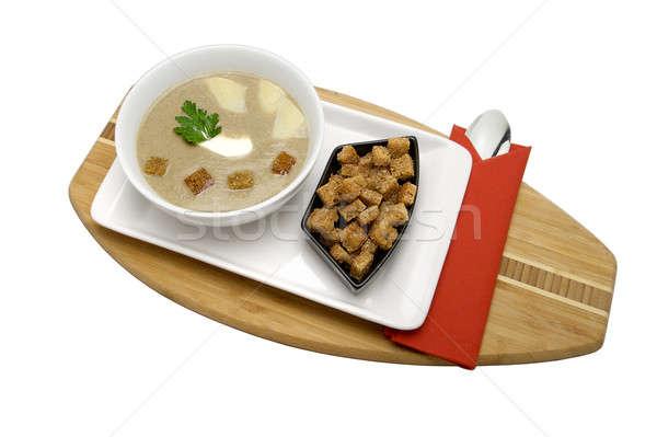 Crema sopa aislado blanco alimentos fondo Foto stock © bartekwardziak