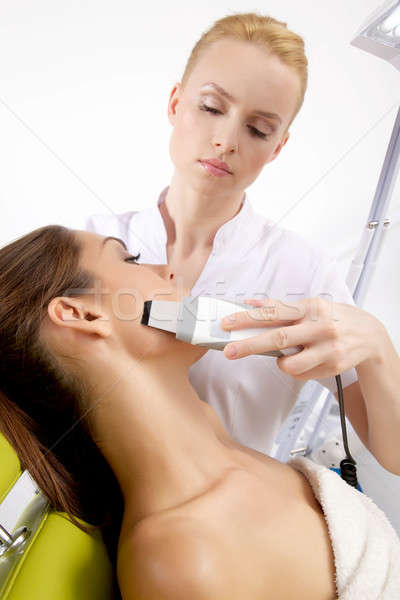 Mujer estimulante tratamiento terapeuta retrato atractivo Foto stock © bartekwardziak