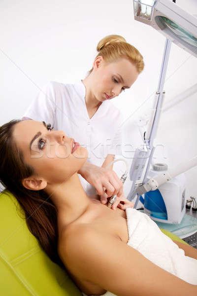 Photo stock: Femme · stimulant · traitement · thérapeute · portrait · séduisant