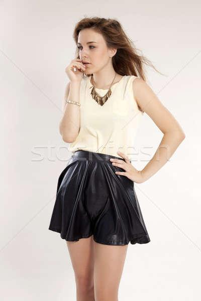 beautiful adult sensuality woman  Stock photo © bartekwardziak